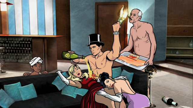 Archer_partying